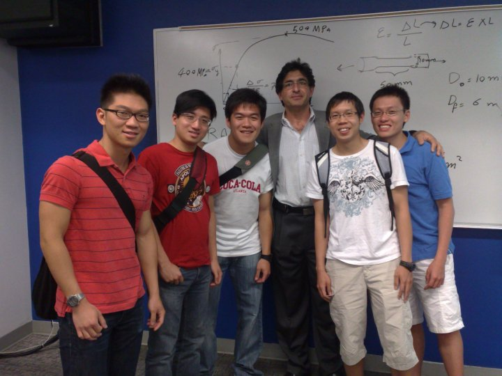 Group photo with the Aerospace Material lecturer
