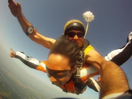 Skydiving in Budapest