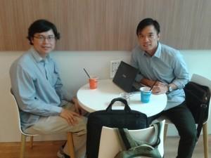 Wong Hoong An and Ted Chong