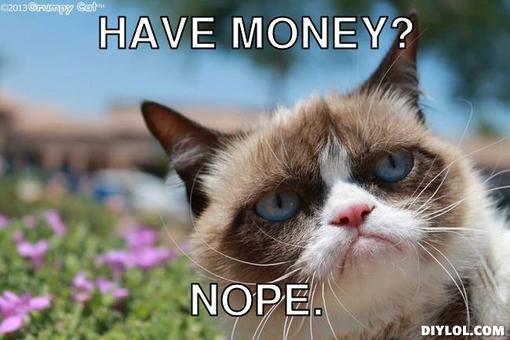 No money, Broke