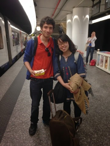 Exploring Brussels with a new friend from japan