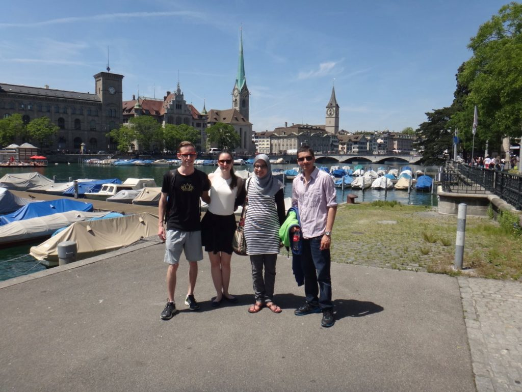 My swiss friends and our guest from Morocco