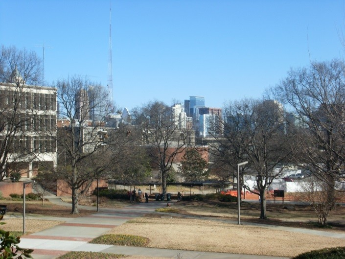 Sceneries around Georgia Tech, in winter