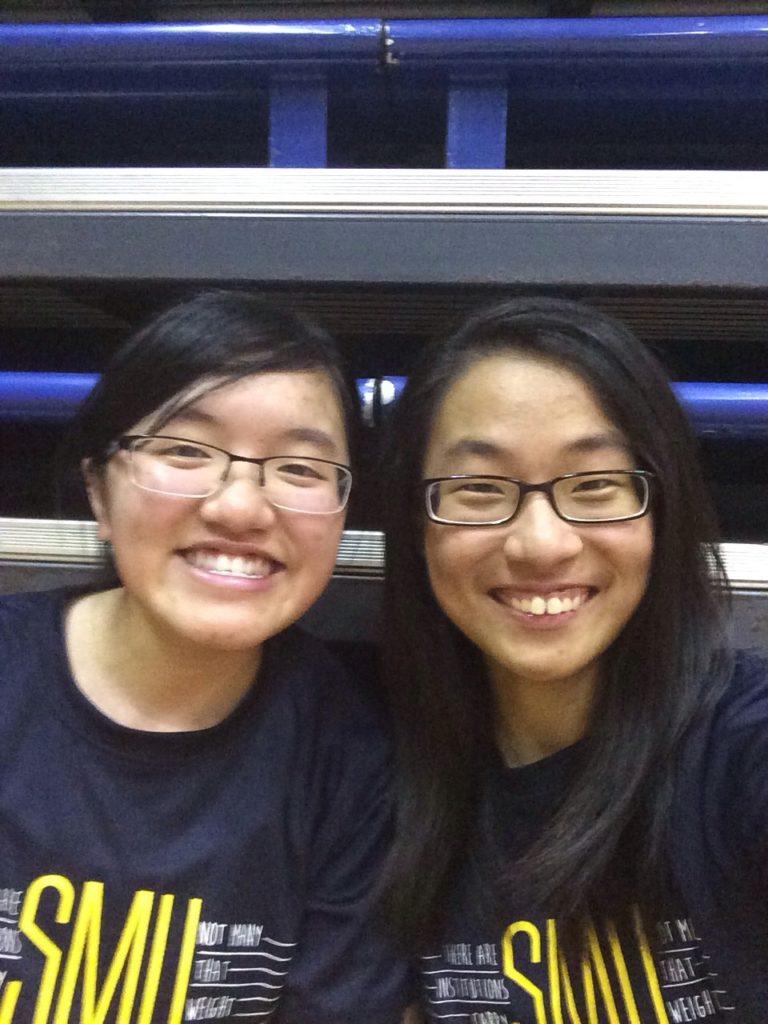 Badminton with my buddy Cheryl