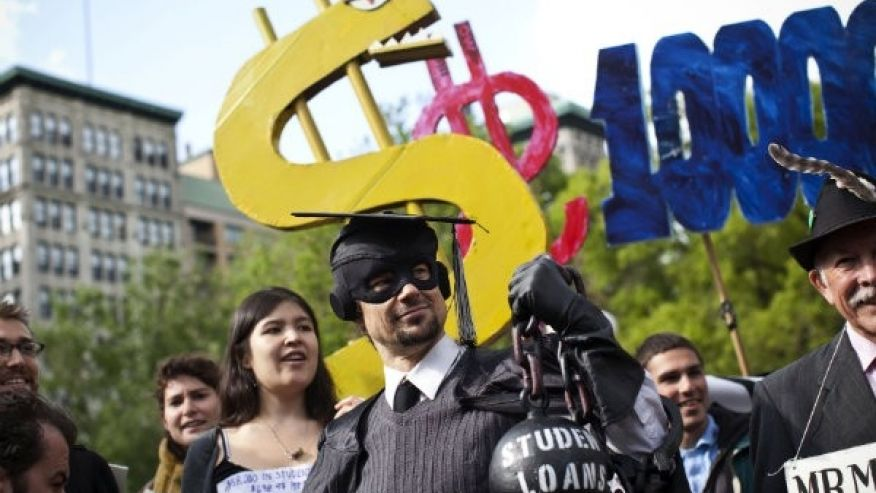 student without debt