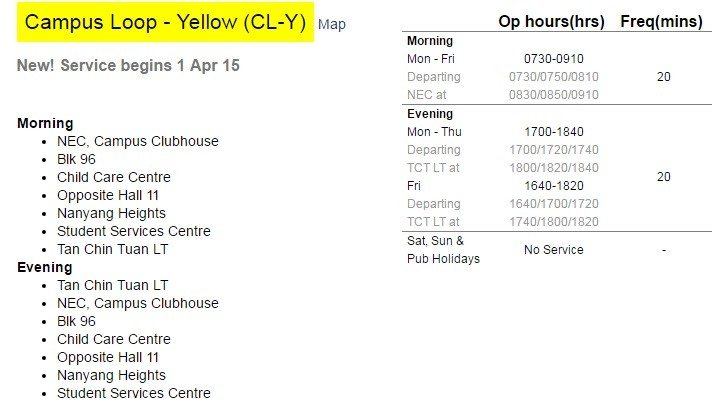 campus loop - yellow