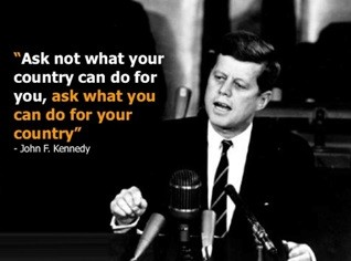ask not what your country can do