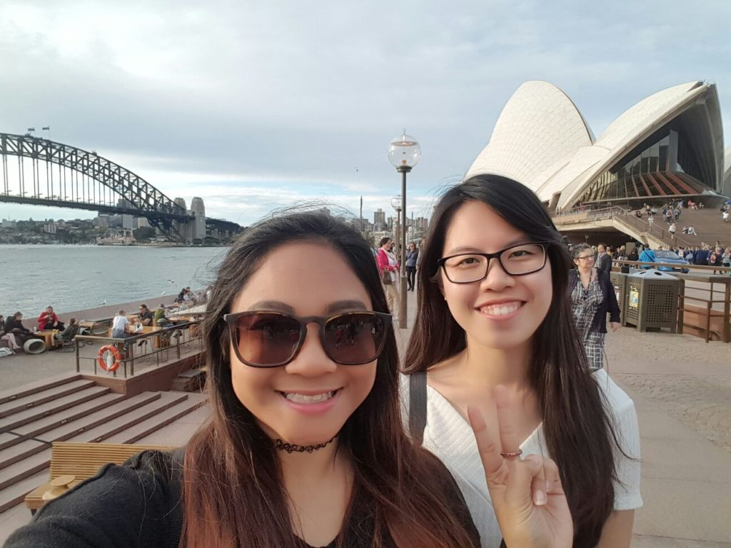 Hilda exploring Sydney with her friend!
