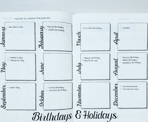 Photo credit: bulletjournal.com