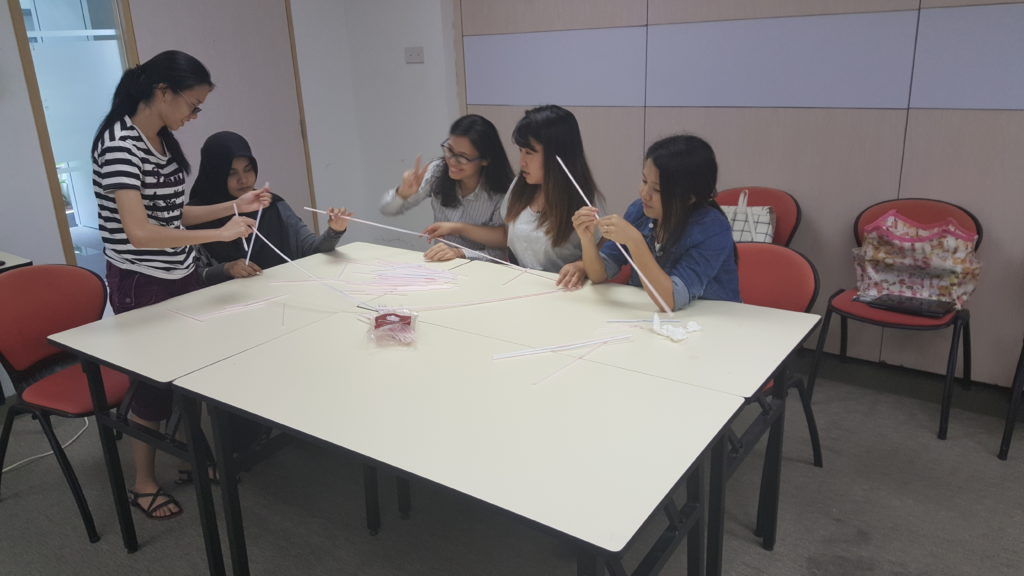 Students in small group discussion
