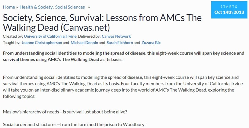 This closed in 2013, but there's a whole load of cool MOOCs that you can explore!