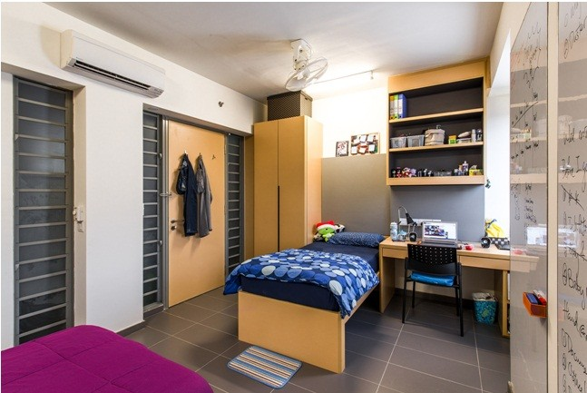 A hostel room (Photo credits: SUTD)