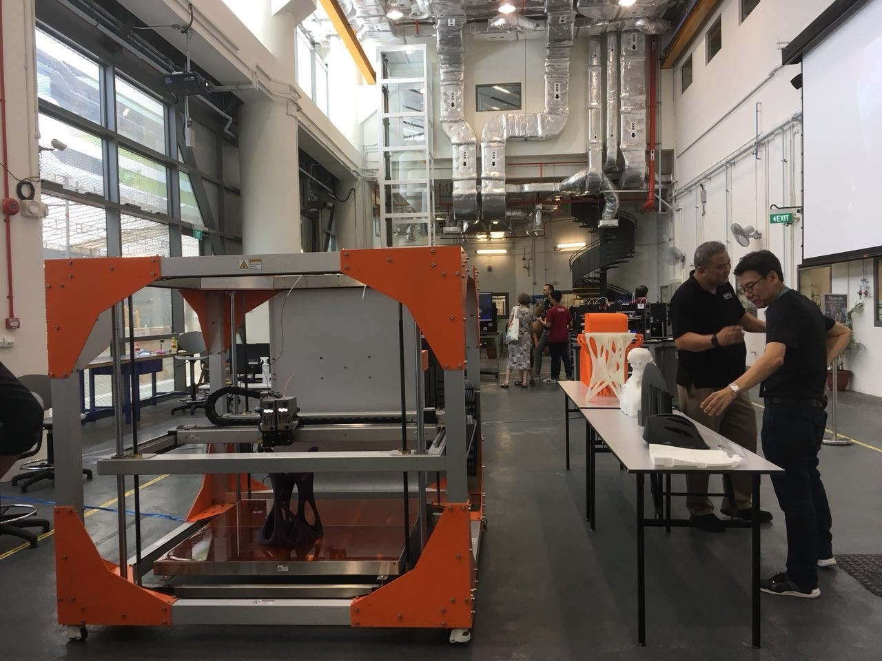 A new and large 3d printer, ready to help turn students' designs into reality