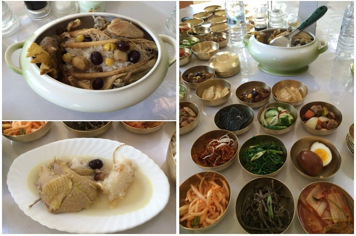 That sumptuous Ginseng chicken lunch (Tourists are treated like royals there.)