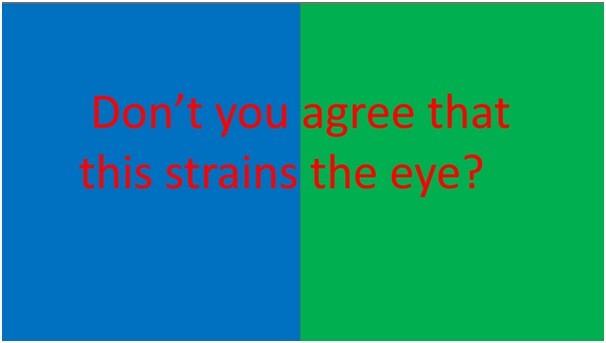 strains the eye